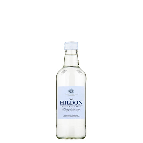 Hildon Sparking Natural Mineral Water - GENTLY SPARKLING - 330ml Glass / Case