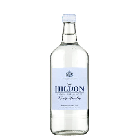 Hildon Sparking Natural Mineral Water - GENTLY SPARKLING - 750ml Glass / Case