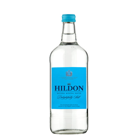 Hildon Natural Mineral Water - DELIGHTFULLY STILL - 750ml Glass / Case
