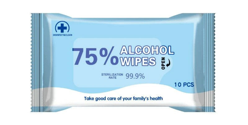 Personal Alcohol Hand Wipes (50 Pack)