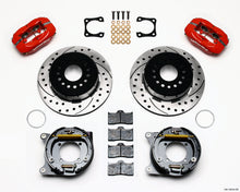 Load image into Gallery viewer, Wilwood Forged Dynalite P/S Park Brake Kit Drilled Red Chevy 12 Bolt-Spec 3.15in Brng Stggrd mt