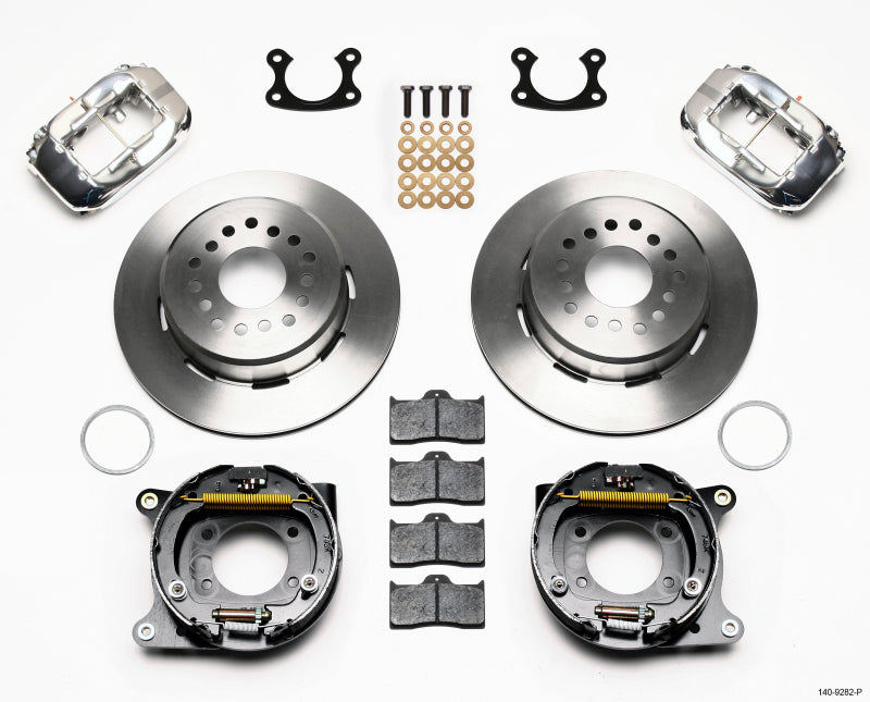 Wilwood Forged Dynalite P/S Park Brake Kit Polish Small Ford 2.50in Offset