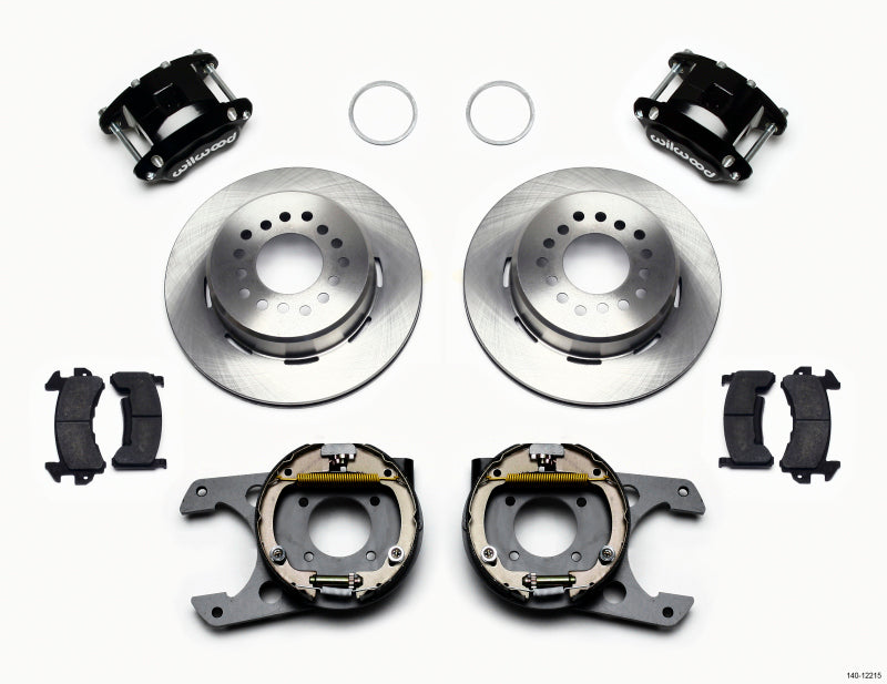 Wilwood D154 P/S Park Brake Kit Chevy 12 Bolt 2.75in Off w/ C-Clips