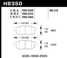 Load image into Gallery viewer, Hawk 90-01 Acura Integra (excl Type R) / 98-00 Civic Coupe Si HP+ Street Rear Brake Pads