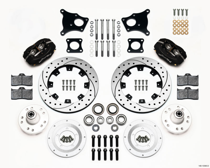 Wilwood Forged Dynalite Front Kit 12.19in Drilled AMC 71-76 OE Disc w/o Bendix Brakes