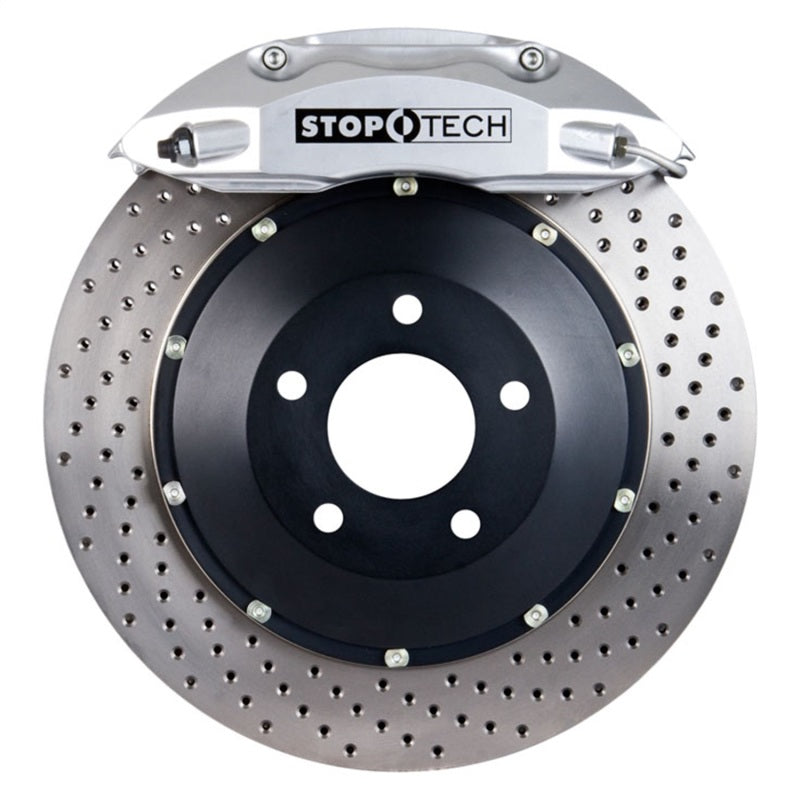 StopTech 01-06 BMW M3 ST-40 Silver Calipers 355x32mm Drilled Rotors Rear Big Brake Kit