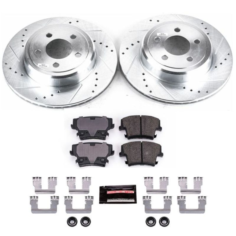 Power Stop 05-19 Chrysler 300 Rear Z23 Evolution Sport Brake Kit