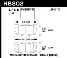 Load image into Gallery viewer, Hawk 15-17 Ford Mustang GT DTC-70 Race Front Brake Pads