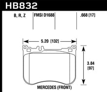 Load image into Gallery viewer, Hawk 14-17 Mercedes-Benz S550 / 13-15 Mercedes-Benz SL550 Sport Performance Ceramic Front Brake Pads