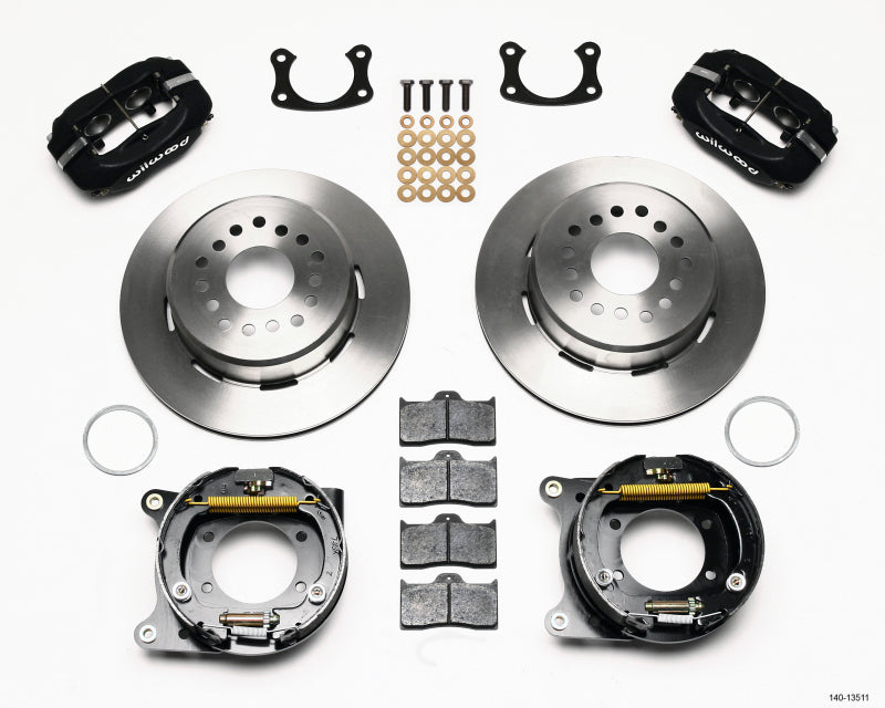 Wilwood Forged Dynalite P/S Park Brake Kit BOP Axle 2.75in Bearing 2.75 Offset