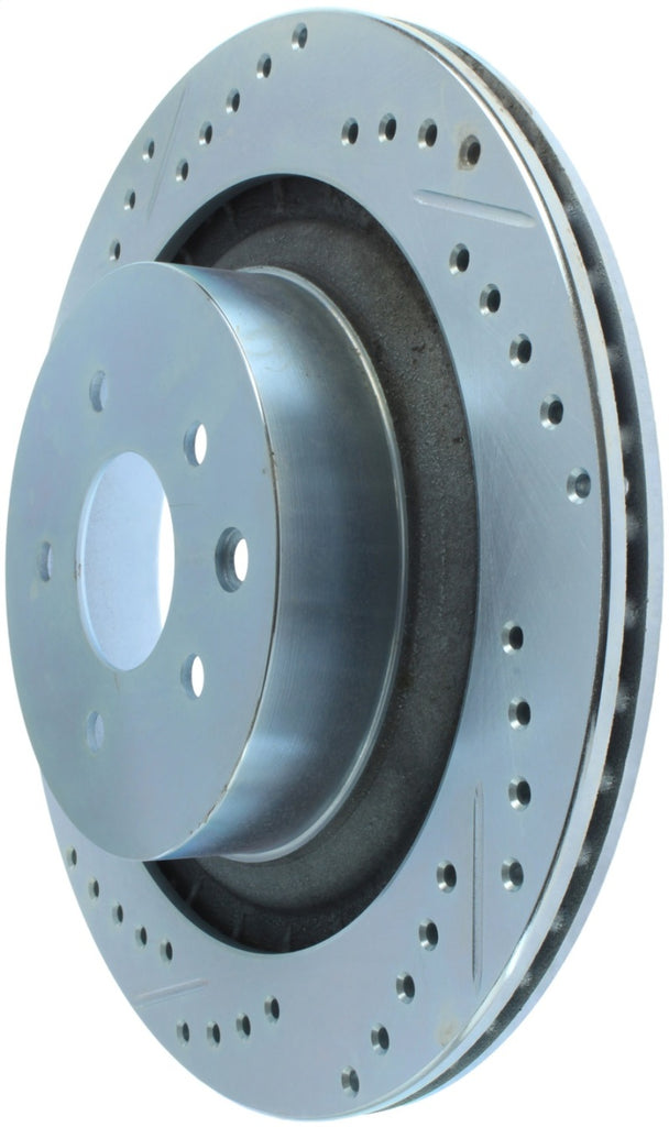 StopTech Select Sport 08-13 Infiniti G37 Slotted and Drilled Right Rear Brake Rotor