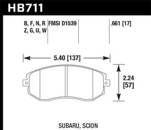Load image into Gallery viewer, Hawk DTC-80 13 Subaru BRZ/13 Legacy 2.5i/13 Scion FR-S Front Race Brake Pads