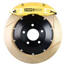 Load image into Gallery viewer, StopTech 93-95 Mazda RX-7 Front Big Brake Kit w/ Yellow ST-40 Calipers Zinc Slotted 332x32mm Rotors