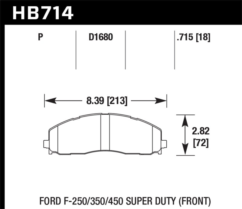 Hawk 2015 Ford F-250/350/450 Super Duty Front Brake Pads