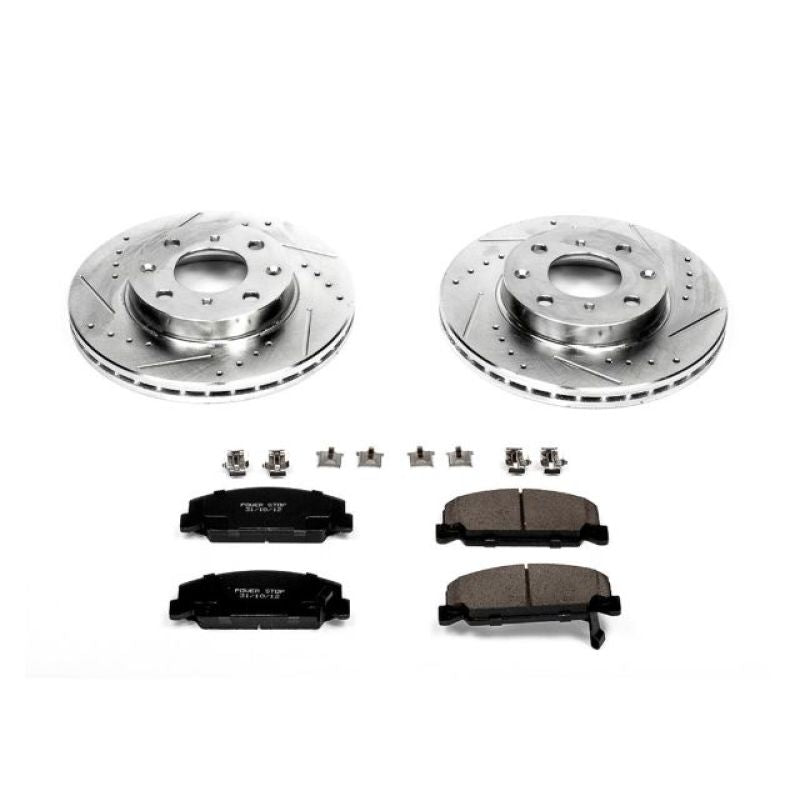 Power Stop 90-00 Honda Civic Front Z23 Evolution Sport Brake Kit
