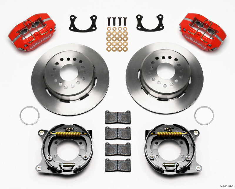 Wilwood Dynapro Lug Mount P/S Park Brake Kit Red New Big Ford 2.50in Offset