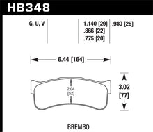 Load image into Gallery viewer, Hawk DTC-80 Brembo 29mm Race Brake Pads