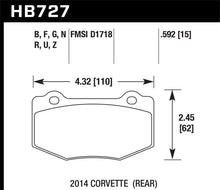Load image into Gallery viewer, Hawk DTC-80 2015 Chevy Corvette Z06 Rear Race Brake Pads