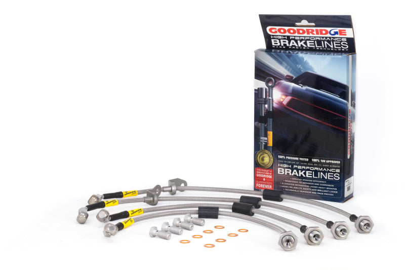 Goodridge 15-17 Hyundai Genesis Sedan AWD SS Brake Line Kit