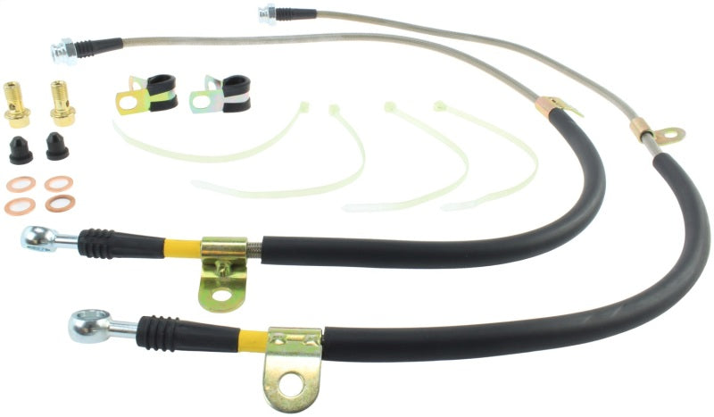 StopTech 09+ Nissan GTR Stainless Steel Front Brake Lines