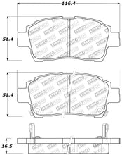 Load image into Gallery viewer, StopTech Performance 00-05 Spyder MR2 / 00 Celica GT / 04-07 xA/xB Front Brake Pads