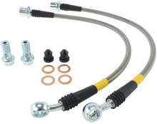Load image into Gallery viewer, StopTech 00-05 Lexus IS300 / 02-08 SC430 Front Stainless Steel Brake Lines