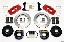 Load image into Gallery viewer, Wilwood AERO4 Rear P-Brake Kit 14.00in Red 2005-2014 Mustang