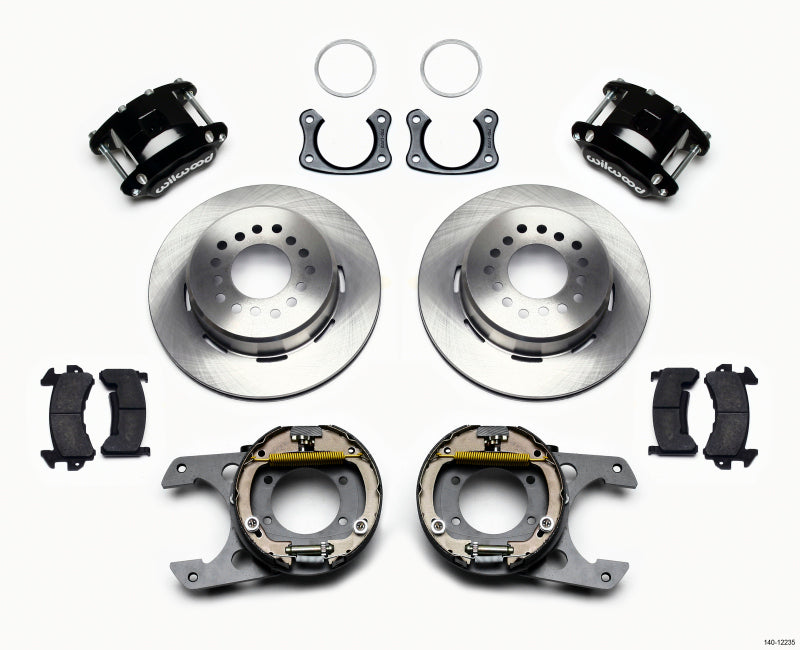 Wilwood D154 P/S Park Brake Kit New Big Ford 2.50in Off Front Mount