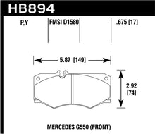 Load image into Gallery viewer, Hawk 09-17 Mercedes-Benz G550 Super Duty Street Front Brake Pads