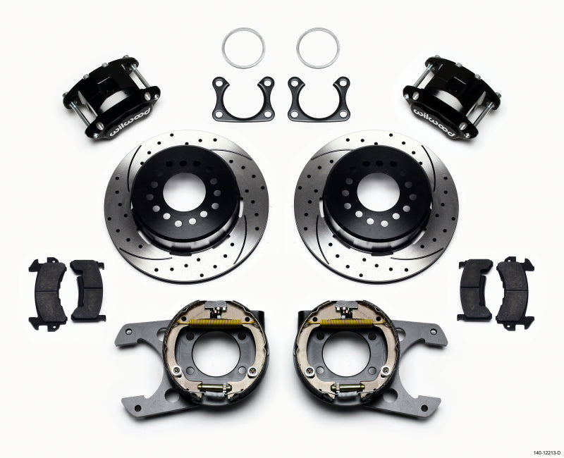 Wilwood D154 P/S Park Brake Kit Drilled Big Ford 2.36in Offset