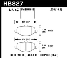 Load image into Gallery viewer, Hawk 13-16 Ford Taurus SHO Performance Ceramic Street Rear Brake Pads