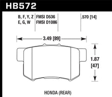 Load image into Gallery viewer, Hawk 07-08 Acura TL Type S / 99-08 Acura TL 3.2L HPS Street Rear Brake Pads