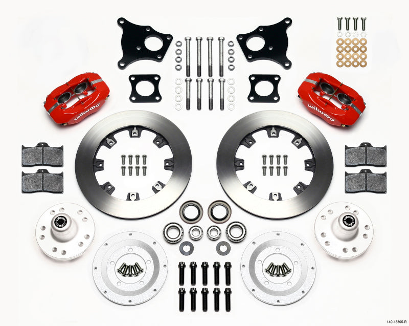Wilwood Forged Dynalite Front Kit 12.19in Red AMC 71-76 OE Disc w/o Bendix Brakes