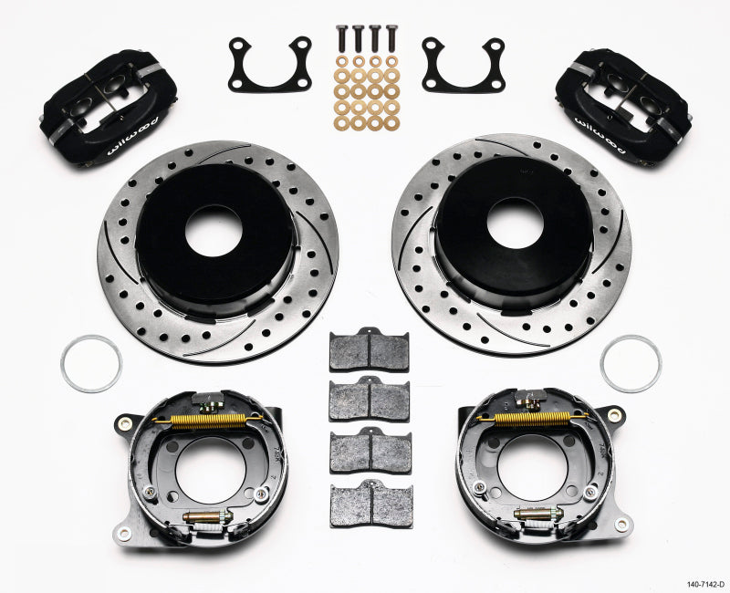 Wilwood Forged Dynalite P/S Park Brake Kit Drilled Big Ford 2.36in Offset Currie Blank