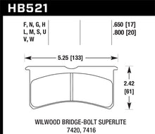 Load image into Gallery viewer, Hawk DTC-80 Wilwood BB SL 7420 20mm Race Brake Pads