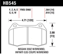 Load image into Gallery viewer, Hawk 03-07 G35/350z w/ Brembo HP+ Street Front Brake Pads