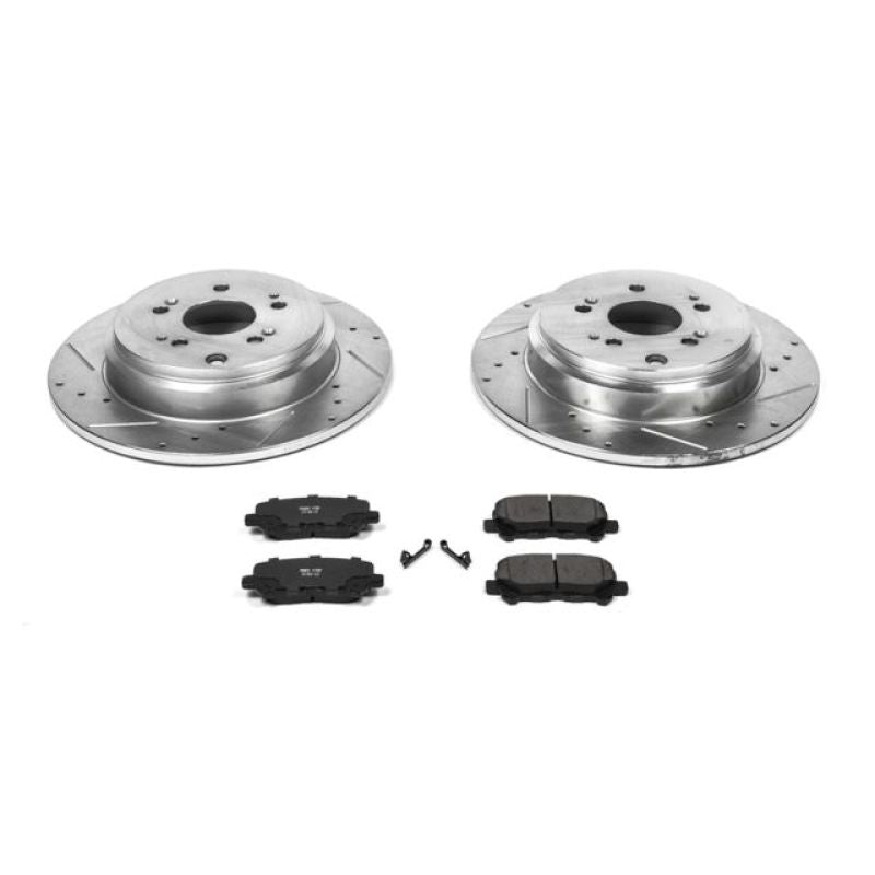Power Stop 12-15 Honda Pilot Rear Z23 Evolution Sport Brake Kit