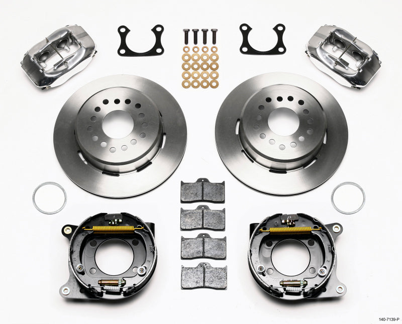Wilwood Forged Dynalite P/S Park Brake Kit Polished Big Ford 2.36in Offset