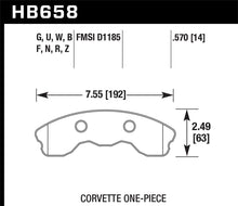 Load image into Gallery viewer, Hawk 2010-2013 Chevy Corvette Grand Sport (One-Piece Pads) High Perf. Street 5.0 Front Brake Pads