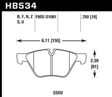 Load image into Gallery viewer, Hawk 09-11 BMW Z4 / 04-05 525I / 08-11 128I / 06 325I/325XI / 07 328I/328XI HPS Street Front Brake P