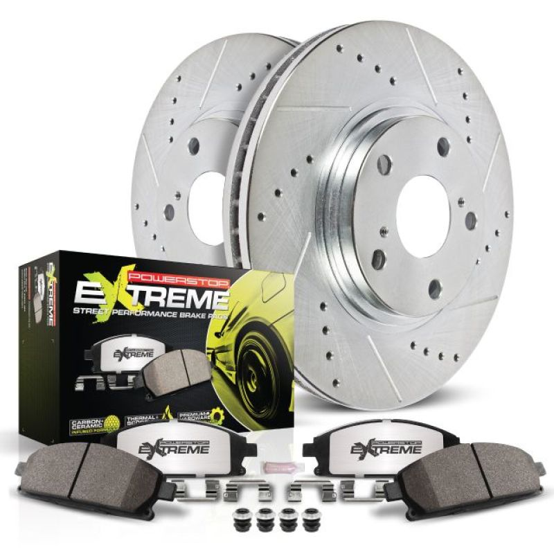 Power Stop 05-06 Saab 9-2X Front Z26 Street Warrior Brake Kit