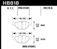 Load image into Gallery viewer, Hawk 11-17 BMW X5 xDrive / 08-17 BMW X6 xDrive HPS 5.0 Front Brake Pads