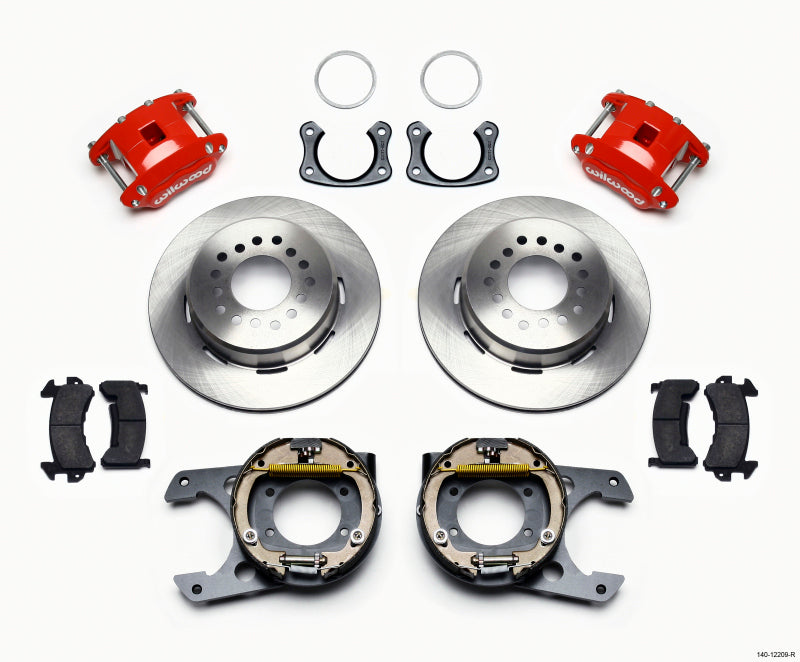 Wilwood D154 P/S Park Brake Kit Red New Big Ford 2.50in Offset