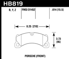 Load image into Gallery viewer, Hawk 11-13 Porsche Cayenne LTS Street Front Brake Pads