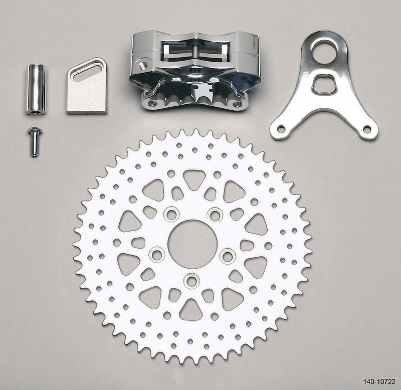 Wilwood Brake Kit GP310 L/H Sprocket Rear Chrome 48 Tooth