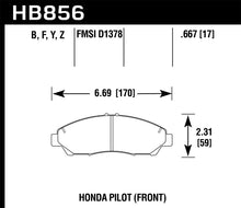 Load image into Gallery viewer, Hawk 09-15 Honda Pilot LTS Street Front Brake Pads