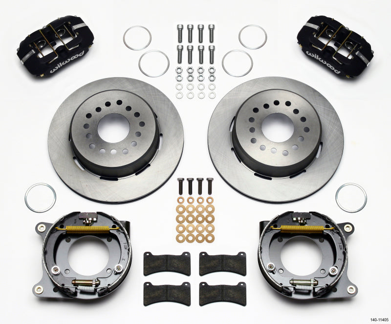 Wilwood Dynapro Low-Profile 11.00in P-Brake Kit 55-57 Chevy 2.34in Offset