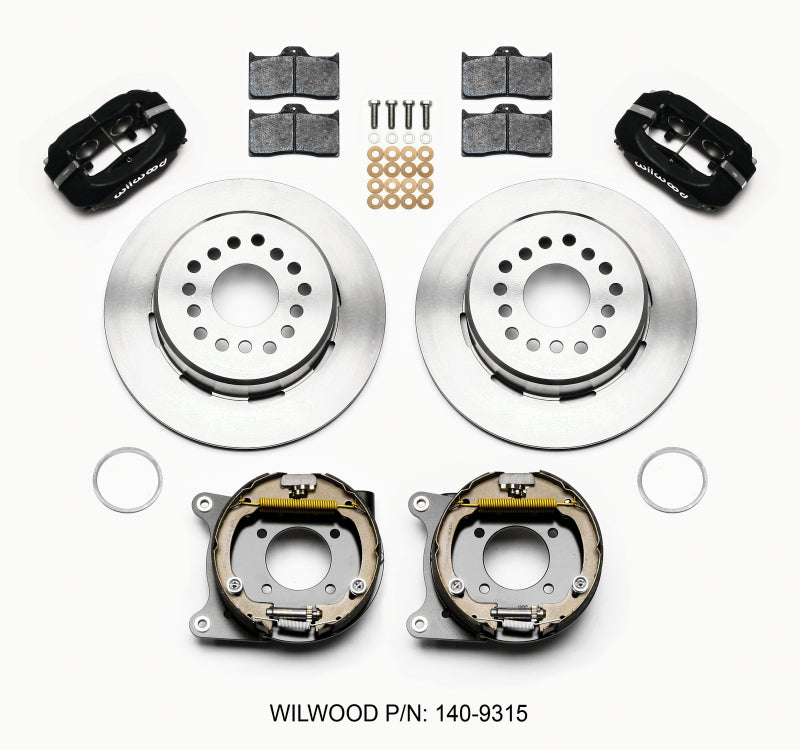 Wilwood Forged Dynalite P/S Park Brake Kit 12 Bolt 2.75in offset Staggered Shock