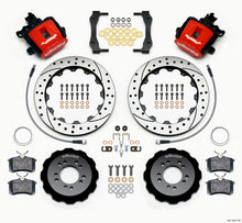 Load image into Gallery viewer, Wilwood Combination Parking Brake Rear Kit 12.88in Drilled Red 2013-Up Ford Focus ST w/ Lines