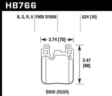 Load image into Gallery viewer, Hawk BMW DTC-60 Race Rear Brake Pads